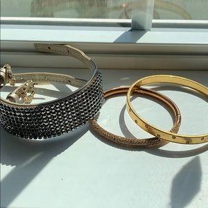 Set of 3 Swarovski bracelets